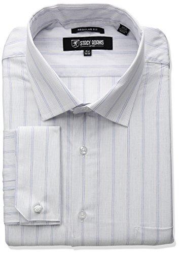 STACY ADAMS Mens Big-Tall Stripe Y.d. Dress Shirt