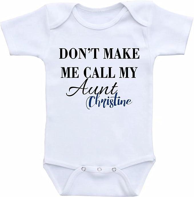 74cef6498840 Amazon.com  Promini Funny Aunt Onesie. Don t Make me Call My Aunt ...