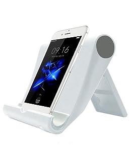Kanggest Soporte del Teléfono para Coche 360 Grados Rotación Escritorio Coche Soporte Soporte para Teléfono para Cabecera(Blanco)