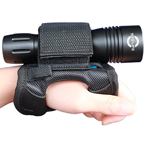 merlin light Soft Goodman Glove Universal Adjustable Hand and Arm Strap Waist Strap Soft Hand Mount Waist Strap Velcro Straps for Dive Lights Underwater Torch and Led Flashlight Lamp