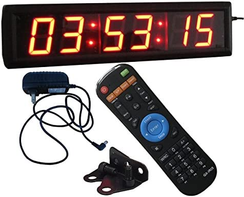 Ledgital Countdown Clock 2.3 High Character LED Countdown Clock w Remote Control – Indoor Only
