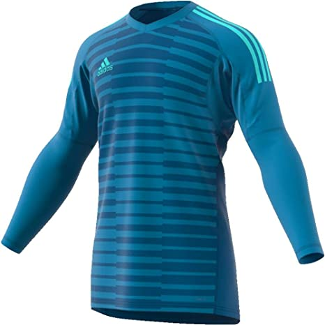 367f119db adidas Boys ADIPRO 18 Junior Goalkeeper Jersey Long Sleeve Bold Aqua Unity  Blue Energy