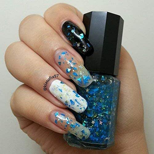 Amazon.com: Electric Sky Blue Glitter Nail Polish: Handmade