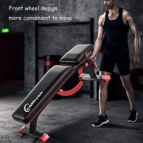 Lxn Banco multifuncional con mancuernas, sentarse banco de ejercicio de entrenamiento plegable de la aptitud Banco de peso para entrenamiento completo del ...