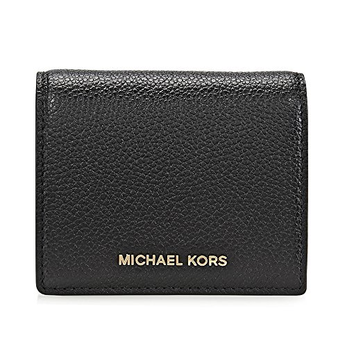 MICHAEL Michael Kors Women's Money Pieces Flap Card Holder, Black, One Size (Flap Womens Holder Card)