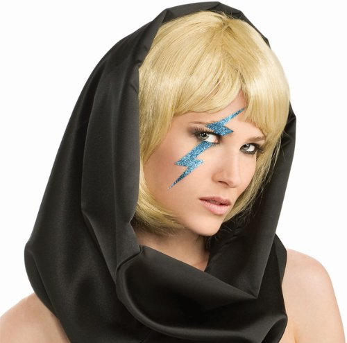 [Lady Gaga Blue Lightning Bolt Prop] (Famous People Costumes For Halloween)