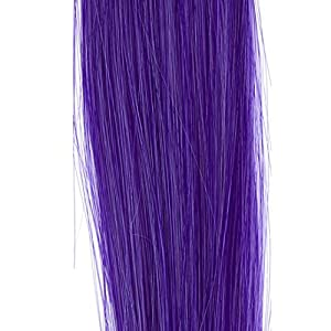 "Iusun 20"" Straight Futura Heat Resistance Hair Extensions Clip on in Hairpieces (Purple)"