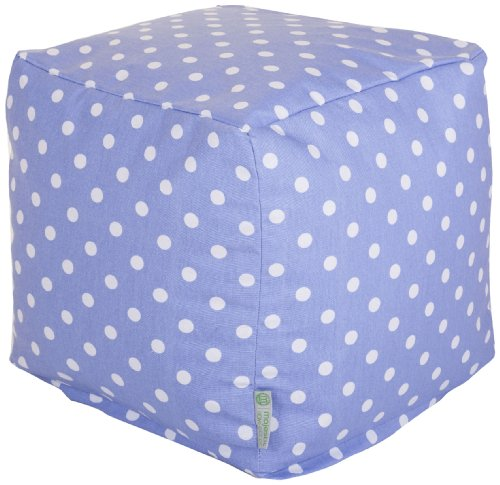 Majestic Home Goods Lavender Polka Dots Small Cube - Dot Patio Furniture