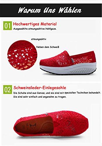 Zapatillas Lona Mujer de para Tief Grau XIANV qgxF1q