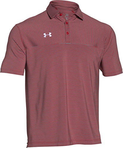 Cxi System - Under Armour Men's Clubhouse Polo Golf Shirt, 1270402 (Red/White, S)