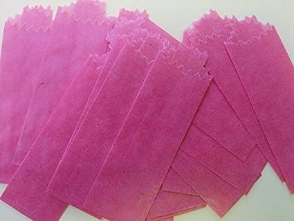 100pcs//bx 25mm//27mm Medium Yellow Vellum Glassine Stamp Wax Paper Envelope Bags