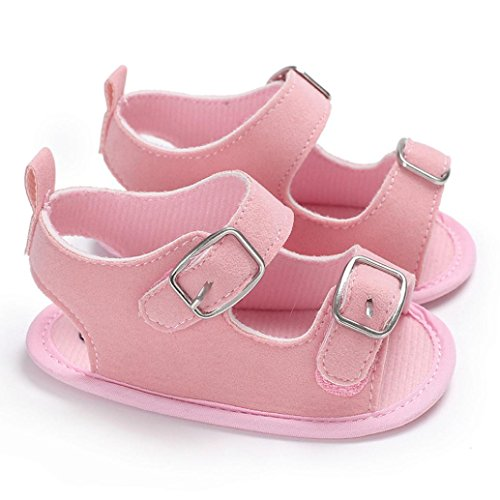 Voberry@ Baby Canvas Toddler Sneakers Straps Crib Shoes Soft Sole Anti-Slip First Walker Shoes