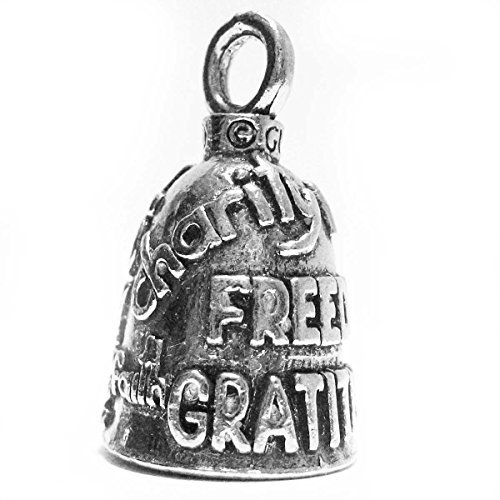 Guardian® Charity Love Freedom Gratitude Strength Faith Peace Motorcycle Biker Luck Gremlin Riding Bell or Key Ring
