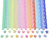 Caydo Luminous Origami Stars Papers Package 600 Sheets 20 Colors(Glows in the Dark)