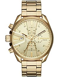 Men's 'Ms9 Chrono' Quartz Stainless Steel Casual Watch, Color:Gold-Toned (Model: DZ4475)