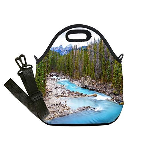 3D Print Neoprene Reusable Cooler Fashion Lunch Bag Kicking Horse River in Yoho National Park Canada custom Stylish Lunch Bag, Multi-use for Men, Women and Kids ()