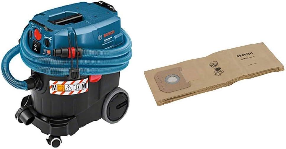 Bosch Professional GAS 35 M AFC - Aspirador seco/húmedo (1380 W, capacidad 35 l, clase polvo M, 254 mbar, manguera antiestática): Amazon.es: Bricolaje y herramientas