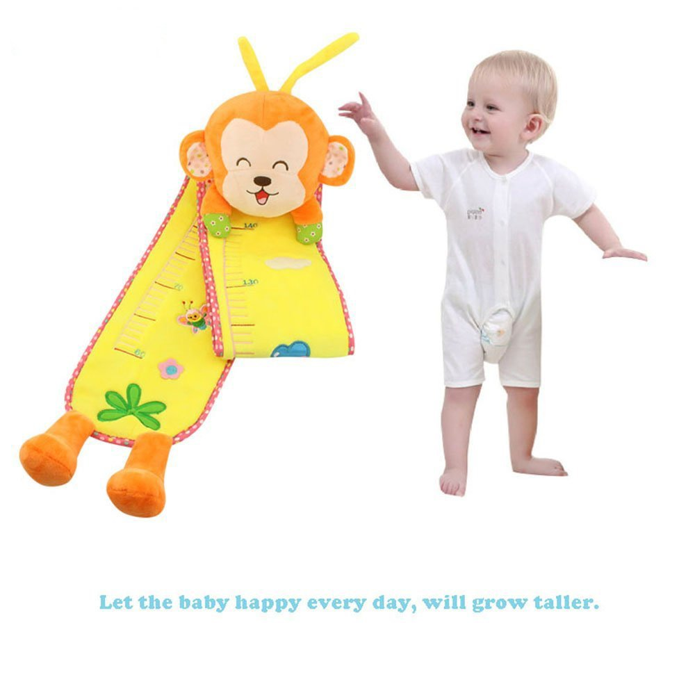 Baby Growth Chart Measuring up to 140cm,Plush Height Chart for Kids(Monkey)