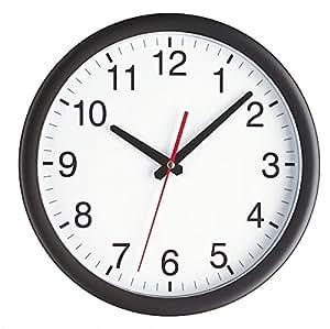 TFA 98.1077 - Reloj de pared electrónico, 300 mm, color negro