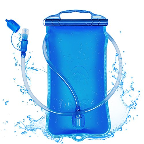 Hydration Bladder 2 Liter,Pupet Water Bladder 2L Leakproof Water Reservoir Use for Cycling Running Climbing Hunting Hiking Camping Water Storage Bladder Bag