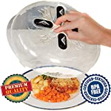 OzBSP Magnetic Microwave Plate Cover Splatter Guard with Steam Vents and Strong Magnets. Safe BPA Free Microwave Cover. Large Plastic 11.8 inch Food Cover. Anti Splash Lid Keeps Microwave Oven Clean