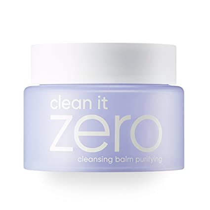 Banila Co New Clean It Zero Cleansing Balm Purifying – Instant Makeup Remover, Facial Wash, 100ml, Double Cleanse, Balances, Soothes All Skin Types, Hypoallergenic by Banila Co
