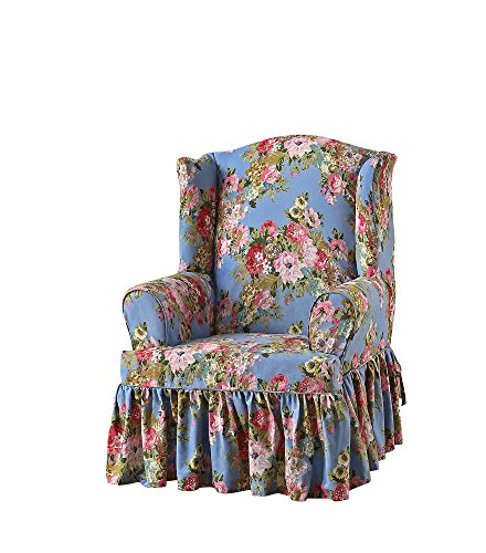 (Sure Fit Juliet by Waverly Wing Chair Slipcover - Chambray)