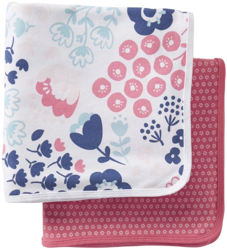 Carters Swaddle Blankets Pink Prints