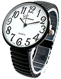 Black Super Large Face Stretch Band Fashion Watch - Free Shipping