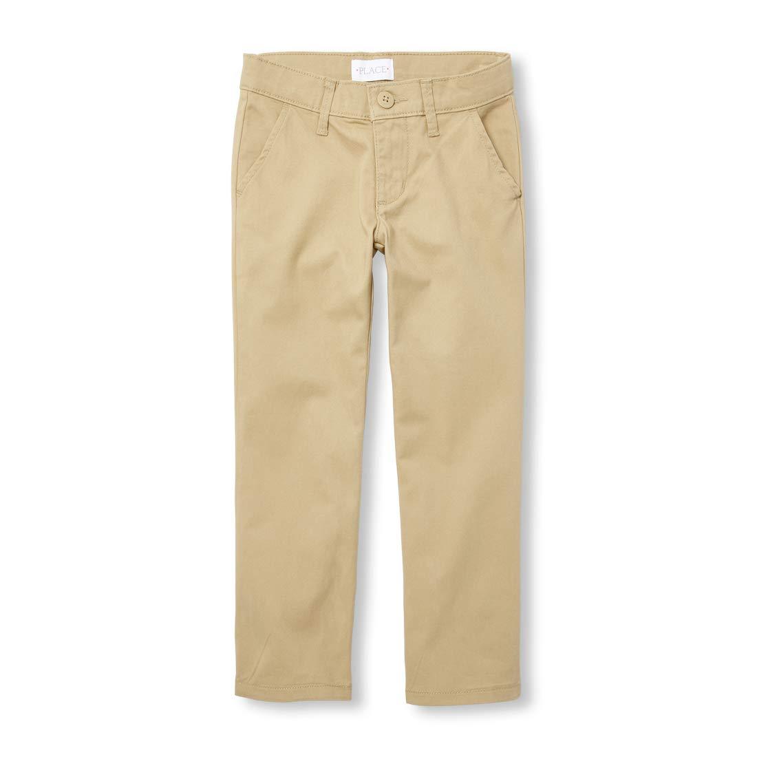 The Children's Place Big Girls' Uniform Pants, Sandy, 8