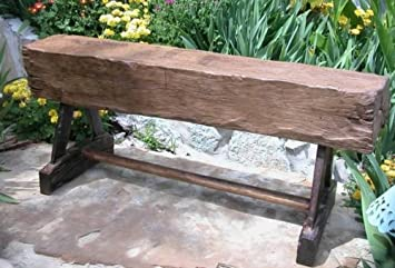 Amazoncom Groovystuff Feed Trough Teak Picnic Bench Outdoor - Teak picnic table and benches