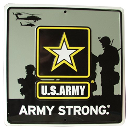 Us Army Soldiers - S&D US Army Soldier Army Strong Metal Sign, 12 by 12-Inch