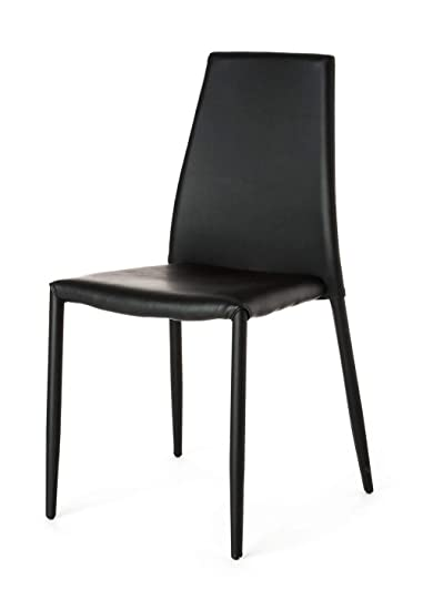 Sedie Pelle Design.Wink Design Lincoln Set 4 Sedie Pelle Ecologica Grigio