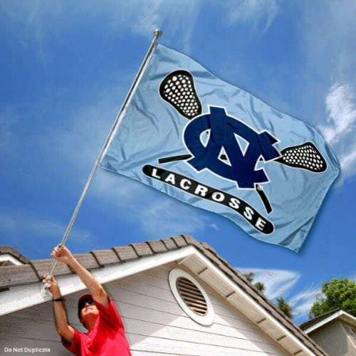 College Flags /& Banners Co University of North Carolina Lacrosse 3x5 Flag