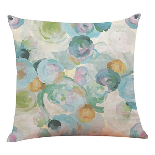 Price comparison product image Pillow Cases,Lavany Pillow Covers Floral With Words Printed Pillowcases Cushion Home Car Sofa Decorative (B)