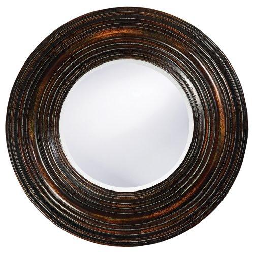 Statements2000 Round Decorative Metal Wall-Mounted Mirror Jon Allen, Silver, 23 Inch – Mirror 104