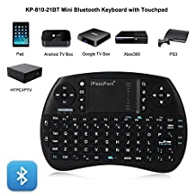 Bluetooth Keyboard with Touchpad Mouse, Lary intel iPazzPort KP-810-21BT Mini USB Wired Gaming Keyboard for PC Laptop Tablet Android/PS3/Xbox 360/TV Box/PC with Windows OS, Mac, Linux