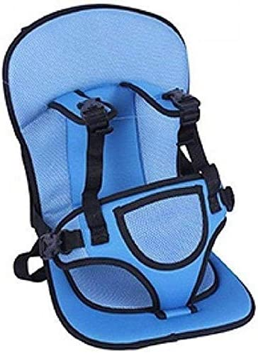 Gurukrupa Gems Febric and Leather Baby-Car-Cushion (32.6 X 30.7 X 7.8 cm_Sky)(GG-4)