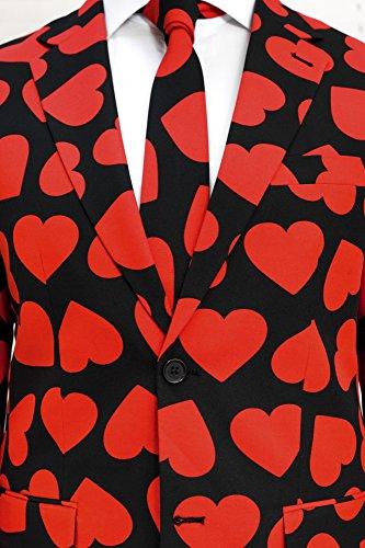 Opposuits Jour De Valentine Thème Costumes Pour Les Hommes À Venir Avec Un Pantalon, Veste Et Cravate Blanche