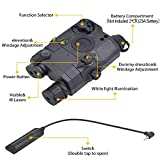PEQ-15 Airsoft Gun Laser Airsoft IR Laser for Rifle White LED Flashlight Attachment & Red Laser Sight with Upgrade Version IR Lenses for AEG GBB CQB