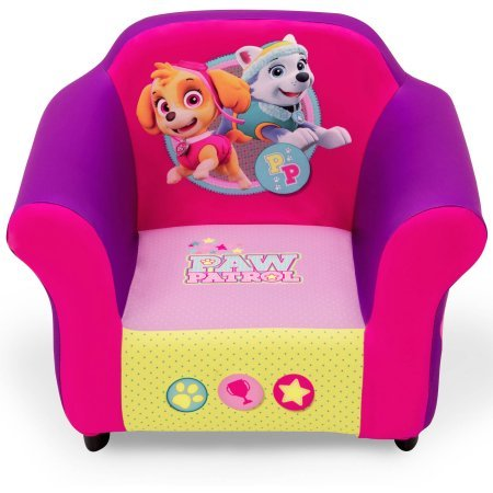 Nick Jr. PAW Patrol Skye & Everest Plastic Frame Upholstered Chair