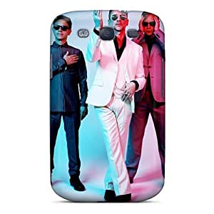 Protective Hard Phone Case For Samsung Galaxy S3 With Customized Attractive Depeche Mode Band Pattern KennethKaczmarek