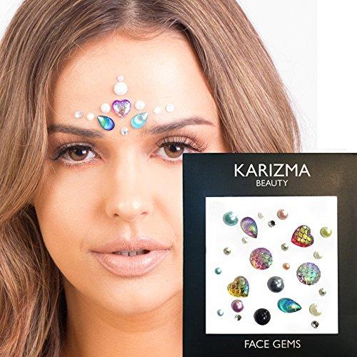 Dress Like A Celebrity Costume (Mermaid Face Gems ✮ FESTIVAL BEAUTY ✮ Jewels Crystals Face Body Bindi)