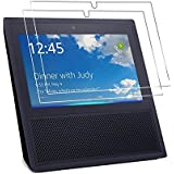 2 Pack Echo Show Screen Protector, Foraco Echo Show Tempered Glass Screen Protector, HD Clear Glass Screen Protector for Amazon Echo Show - Anti-scratch / Ultra Clear / Bubble Free