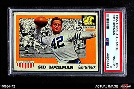 Amazon.com  1955 Topps   85 Sid Luckman Chicago Bears (Football Card ... 1da2e0ca6