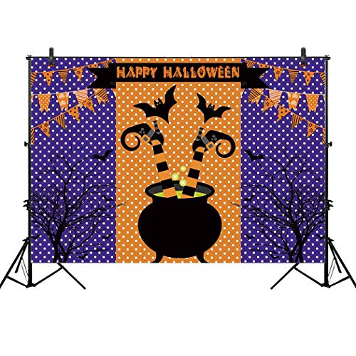 Allenjoy 7x5ft Friendly Happy Halloween Family Backdrop for Magic Witch Witches WizardsChildren Pictures Background Autumn Party Home Decor Outdoorsy Theme Photo Studio Photography Shoot Props Drop]()