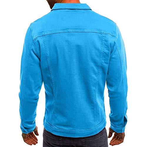 Denim De Otoño Vintage Invierno Botón Hombres Azul Color Franela Chaqueta Guess Gant Blusa Solido Abrigo Los ALIKEEY De Gasa De 4pFOOw