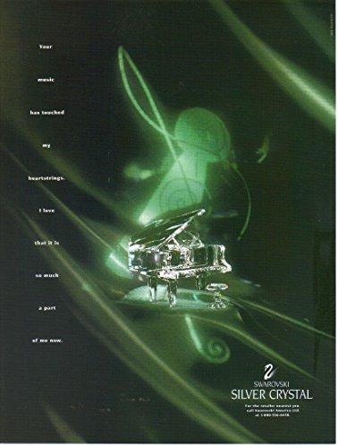 (Vintage Magazine Print Ad: 1994 Swarovski Silver Crystal, Piano,