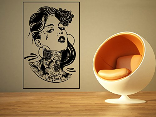 Wall Room Decor Art Vinyl Sticker Mural Decal Sexy Tattoo Pin Up Girl Poster Big AS1937