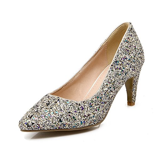 Balamasa Scarpe Da Donna Con Paillettes Pull-on In Pelle Nera Imitate